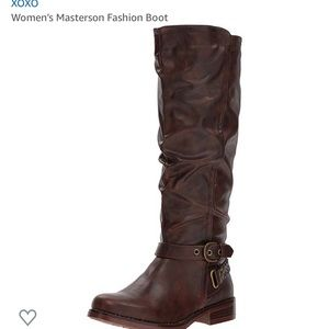 XOXO brown leather boots NWOT